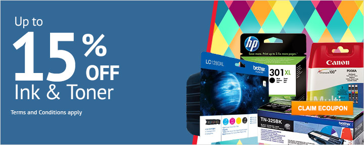 Up to 15% Off Ink & Toner